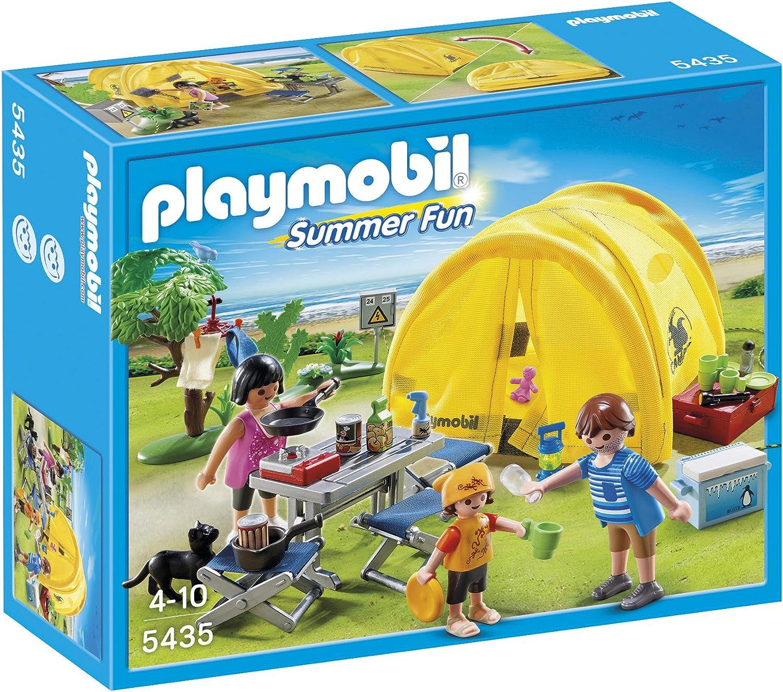 Playmobil 5435 Figurine Famille Et Tente De Camping Amazon Fr Jeux Et Jouets