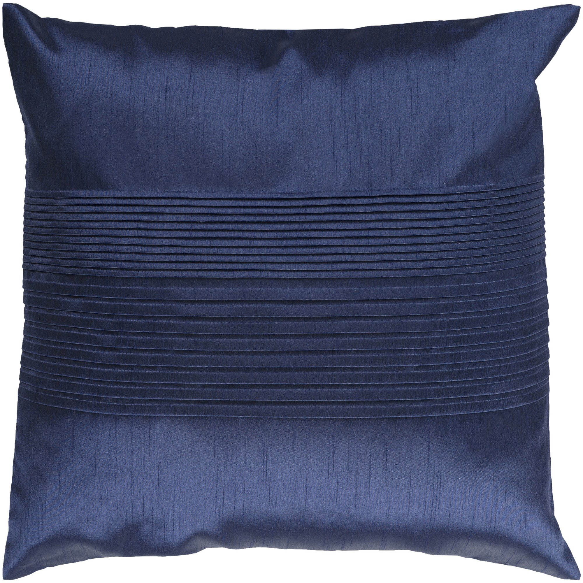 Surya HH-029 Hand Crafted 100% Polyester Navy 18'' x 18'' Solid Decorative Pillow