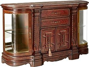 Michael Amini Windsor Court Sideboard Cabinet, Vintage Fruitwood