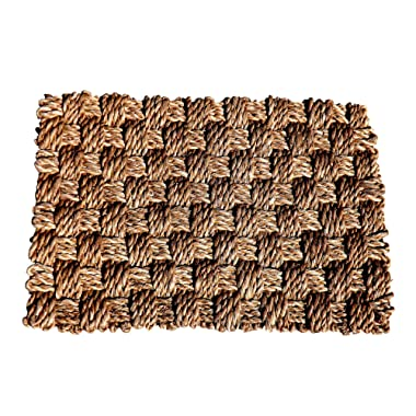 Green Breeze Imports Medium Abaca Weave Doormat
