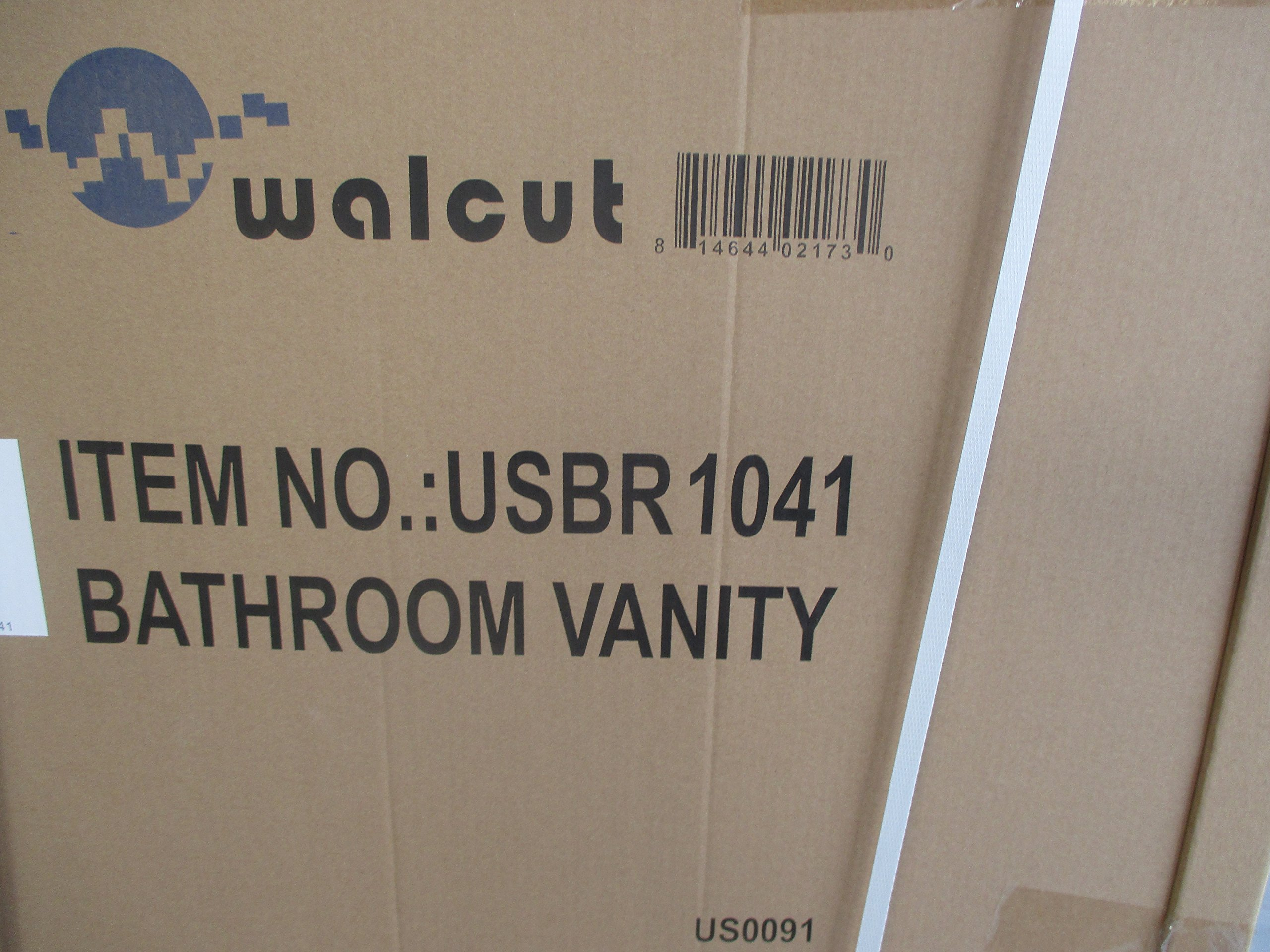 Walcut Luxury 60'' Modern Double Ceramic Sink Solid Wood Bathroom Vanity Cabinet With Mirror And Tempered Glass Table Board by WALCUT (Image #6)