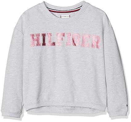 Essential Grey Hilfiger Tommy Heather Sweatshirt Foil Grey Print 004 Girl's aYEfnfPB