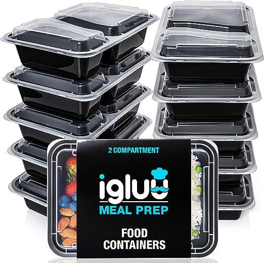 Amazon.com: Igluu Contenedores de comida preparada [paquete ...