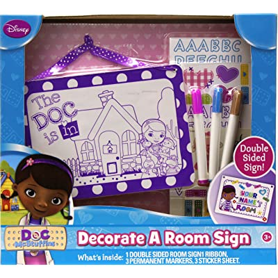 Tara Toy Doc McStuffins Decorate a Room Sign: Toys & Games