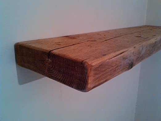 Charmant 120CM RECLAIMED STYLE CHUNKY FLOATING SHELF RUSTIC WOODEN: Amazon.co.uk:  Kitchen U0026 Home