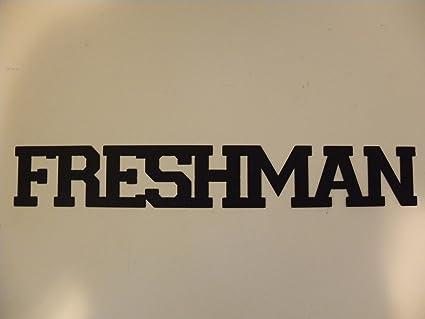 Freshman Word Athletic Varsity Font Metal Wall Sign: Amazon co uk