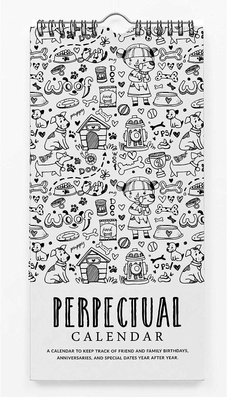 Inkdotpot Doodle De Impresión Calendario Perpetuo Rústico Colgante De Pared Aniversario Evento Especial Recordatorio Calendario Libro Diario Colgante De Pared De Tarjetas De Regalo De Cumpleaños