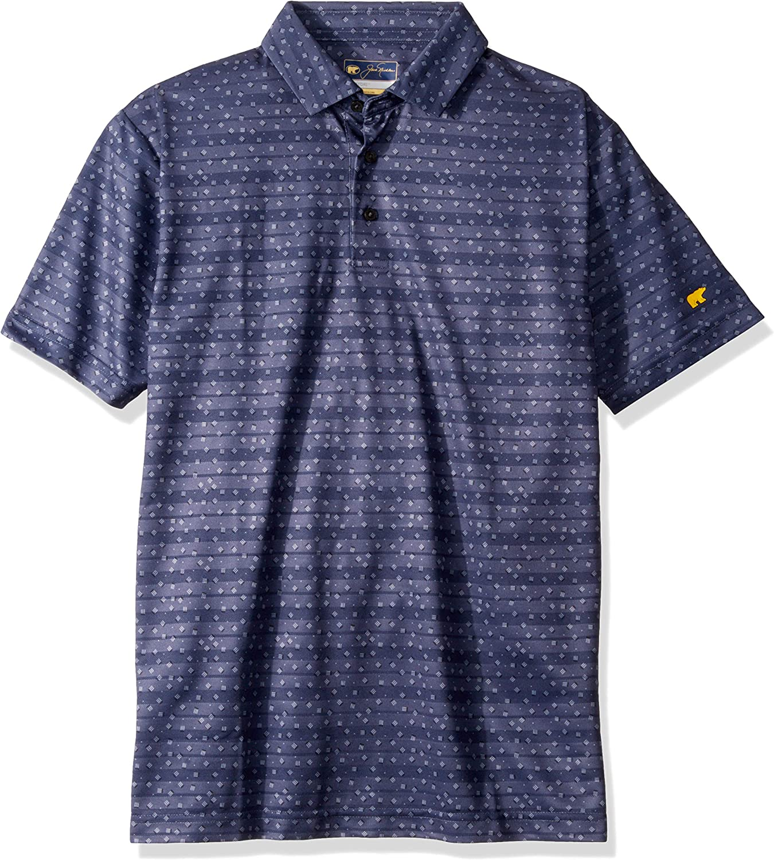 Jack Nicklaus Men's Short Sleeve Mini All Over Print Polo Shirt