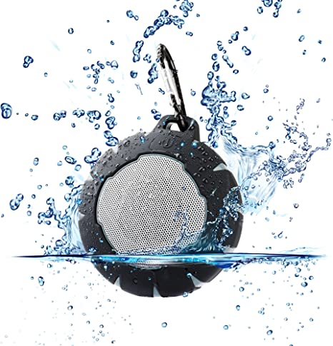 Urban Beatz GEO Rugged Wireless Bluetooth Speaker. Shockproof Waterproof Outdoor Speaker. Built in Microphone, Playback & Volume controls, and 7 Hour