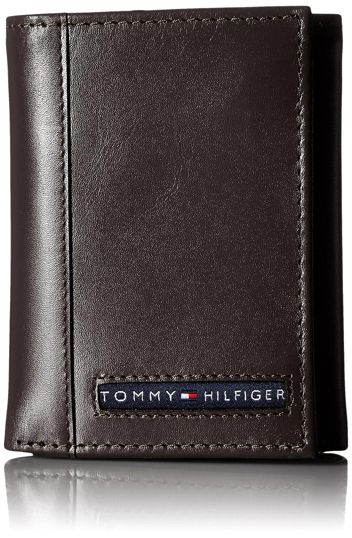 Amazon.com: Tommy Hilfiger Cambridge cartera de cuero con ...