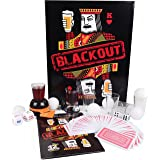 Drinking Games Kit for Parties - BLACKOUT 20 Items Party Game Set - Includes Playing Cards, Shot Glasses, Dice, Beer Pong Balls - Entertaining Gift for Graduation, Friends, Adults, Bachelorette