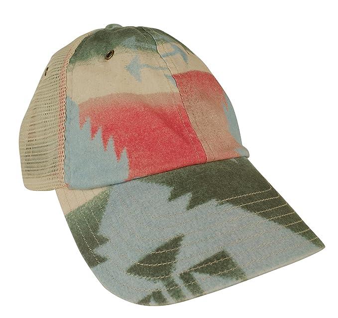 223f0a10a50 Polo Ralph Lauren Men s Mesh Southwestern-Print Trucker Hat Cap-MT-EA   Amazon.in  Clothing   Accessories