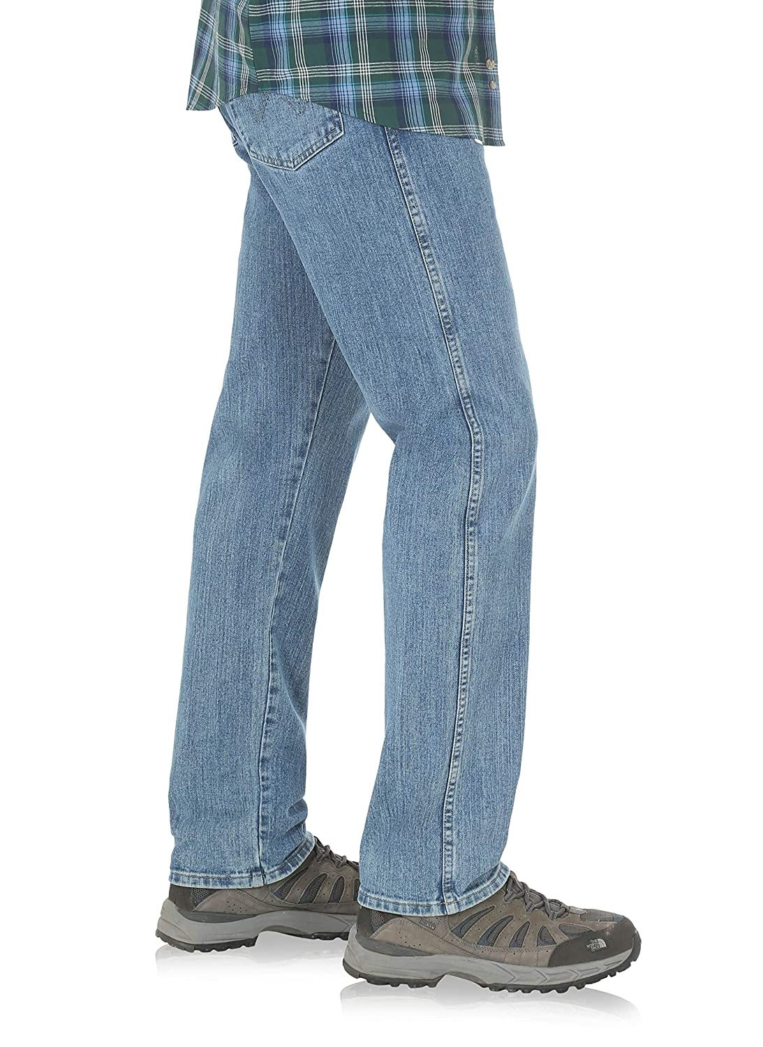 Wrangler Mens Performance Series Relaxed Fit Jeans Light Stone
