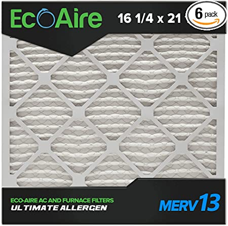 16-1//4x21-1//2x1 Ultimate Allergen Replacement AC Furnace Air Filter 12 Pack