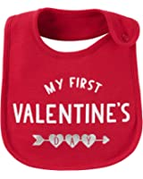 """Carter's Just One You Unisex Baby """"My First Valentine's Day"""" Bib- Red"""