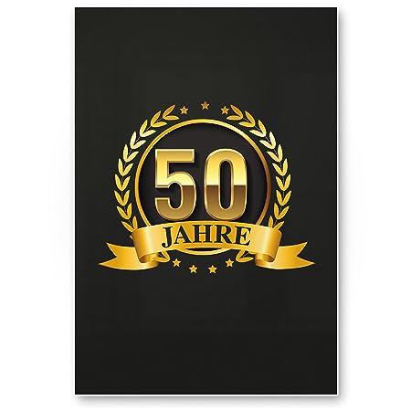 DankeDir!. 50 años Oro, plástico Cartel - Regalo de 50º ...