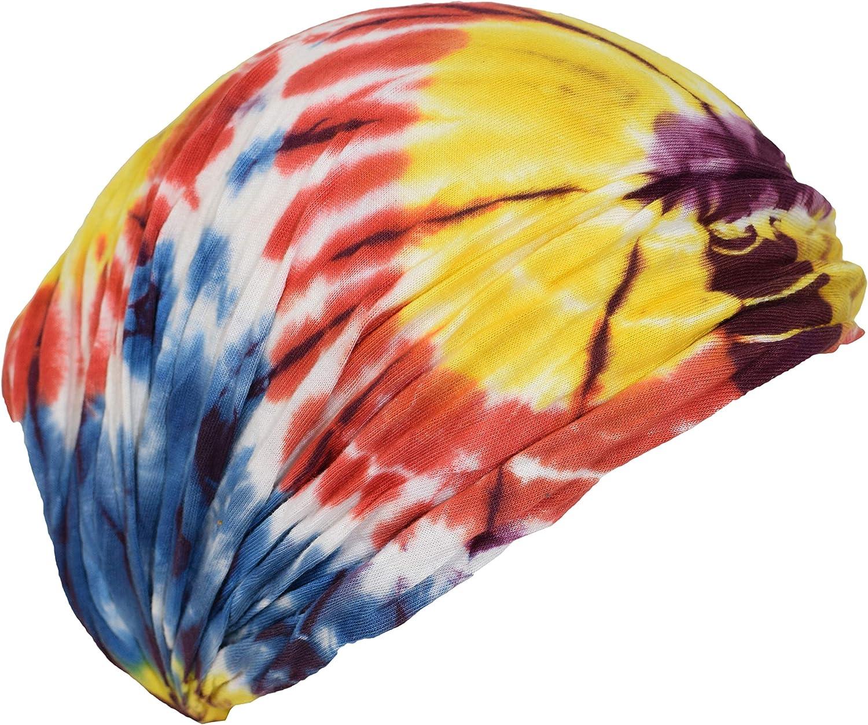 Gheri Cotone Nepalese Tie Dye Hippie Colorata Avvolgere la Testa Fascia per Capelli