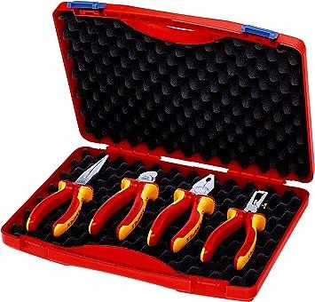 KNIPEX 00 20 15 Estuche compacto 4 piezas con herramientas aisladas VDE: Amazon.es: Bricolaje y herramientas