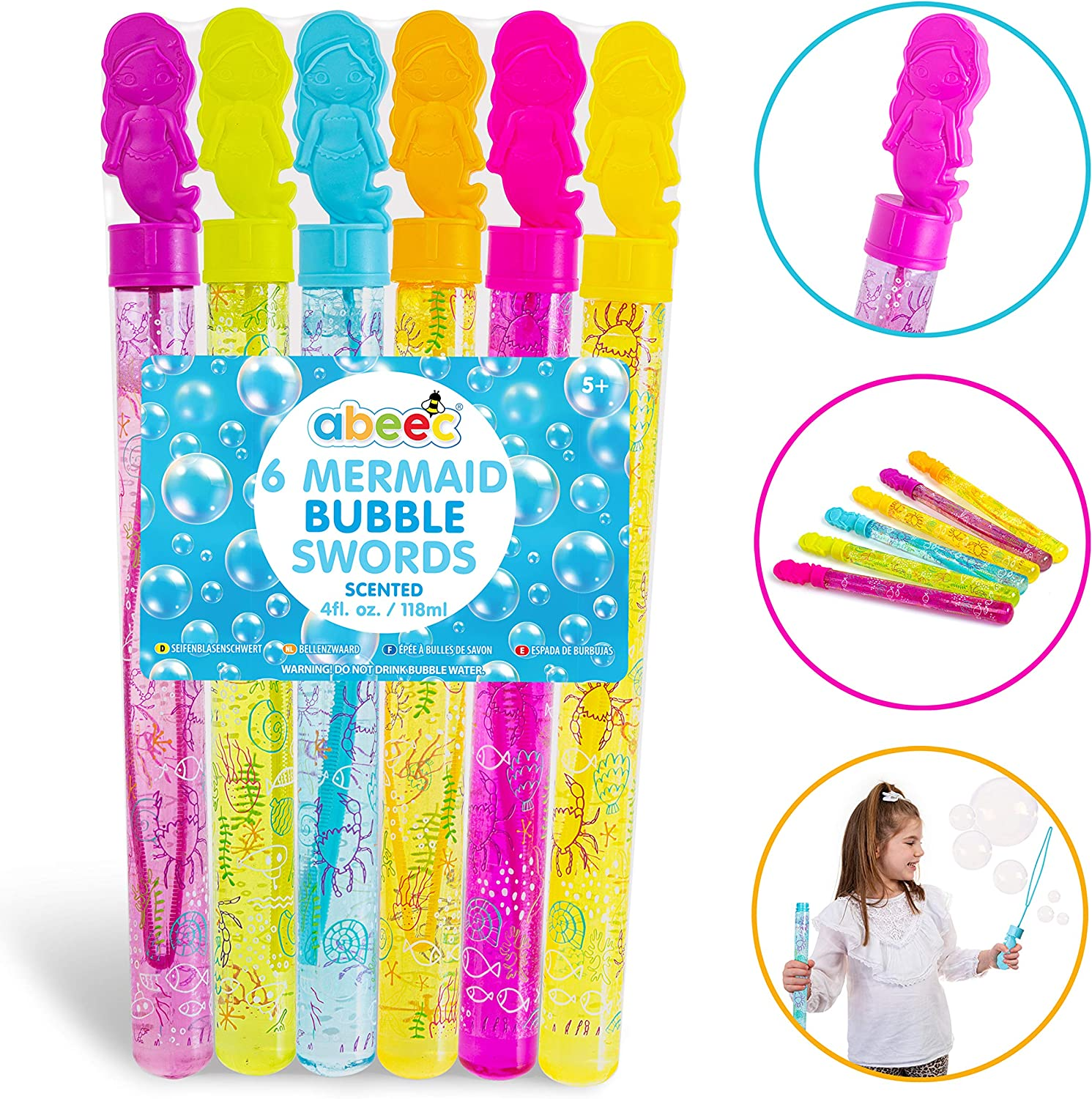 Bubble Party Bag Fillers Summer Fun in the Giant Bubble Swords Pack of 6