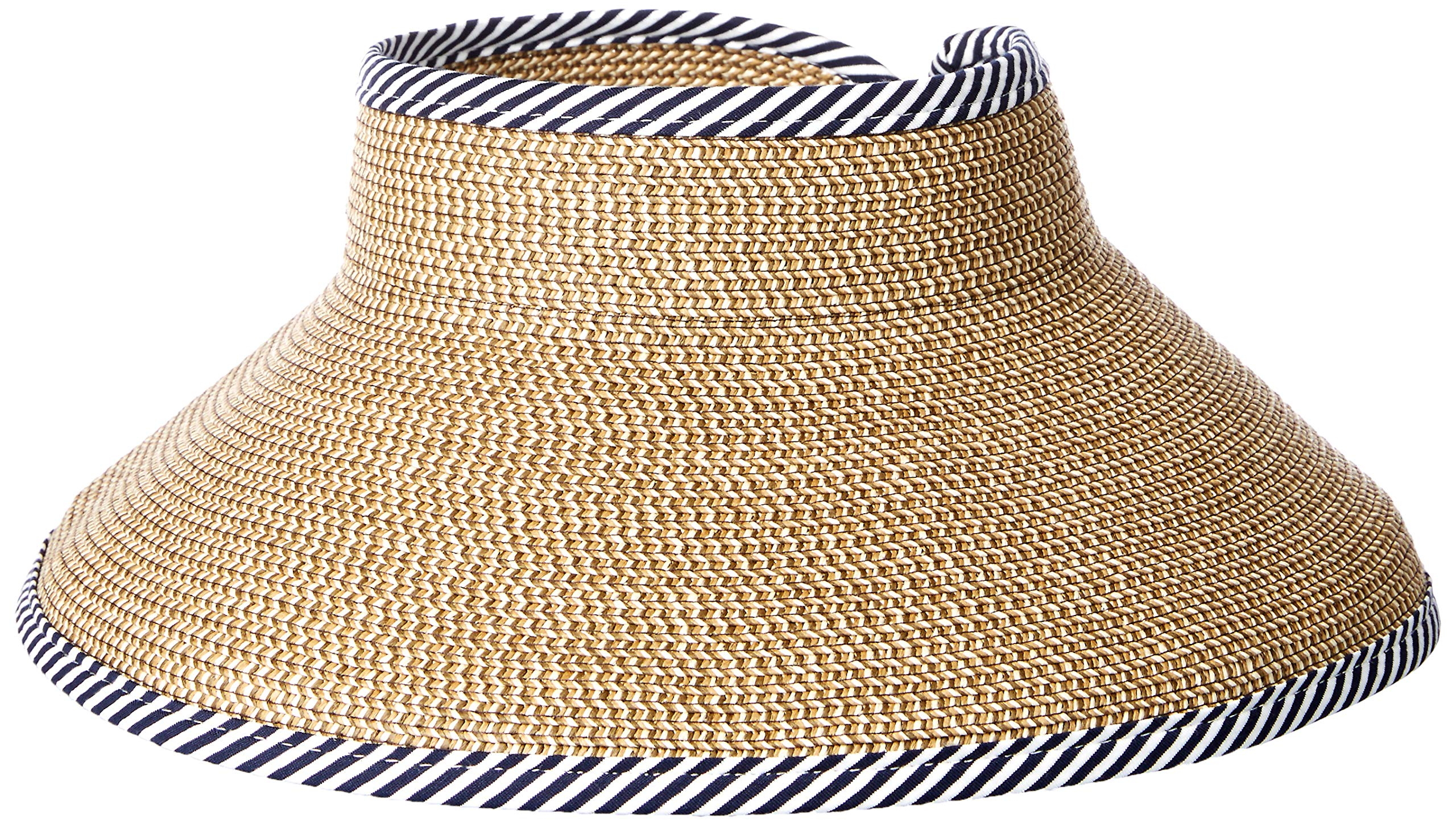 Roxy Women's Kiss The Ocean Straw Visor, natural, 1 SZ