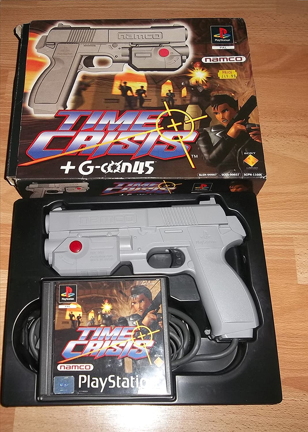 Time Crisis + G-Con 45 Light Gun (PS1/2): Amazon co uk: PC & Video Games