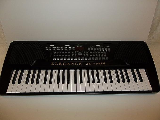 Amazon.com: Elegance JC-5489 Electronic Keyboard Player: Musical Instruments