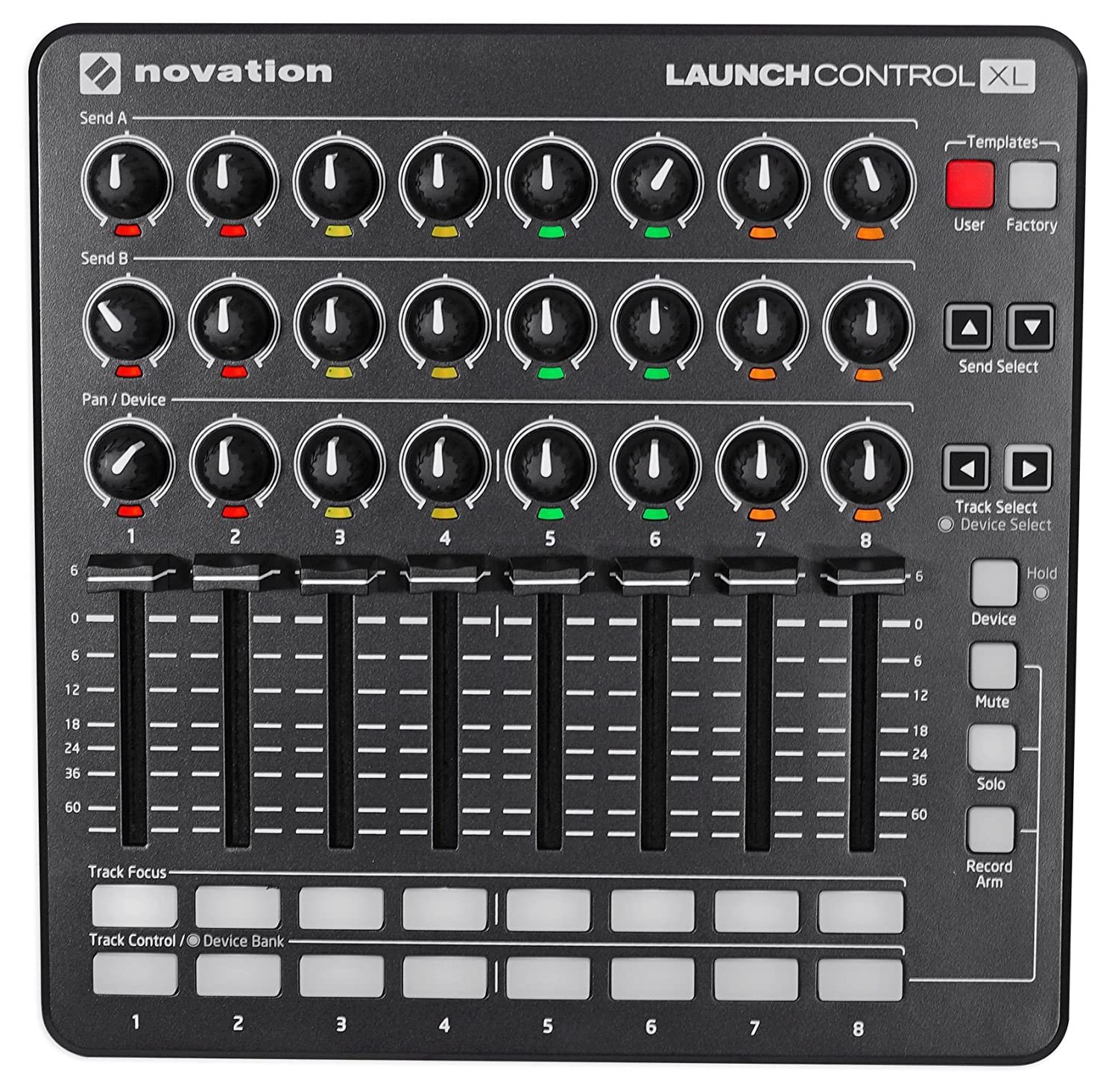 Novation Launch Control XL MIDI USB Ableton Live Controller w/ HUI Integration Focusrite/Novation AMS-LAUNCH-CONTROL-XL-BLK