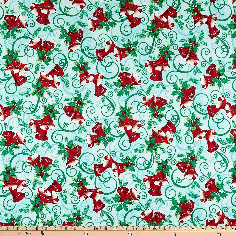 RJR Evergreen Jingle Winter Metallic Sky Quilt Fabric By The Yard
