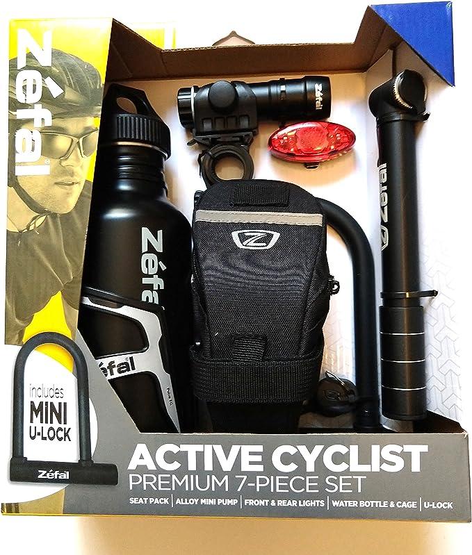 bottle, cage,front /& rear lights /& smart pump NIB Zefal Cycling Value Pack