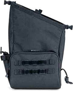 Kuryakyn 5170 Hoodrat Swing Arm Motorcycle Bag: Weather Resistant with MOLLE Attachment Points and Zippered Storage, Universal Fit, Black