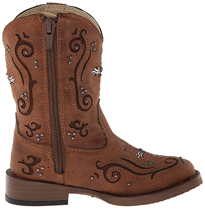 Amazon.com: Roper Fe Square Toe Bling Cowgirl Boot (Toddler ...