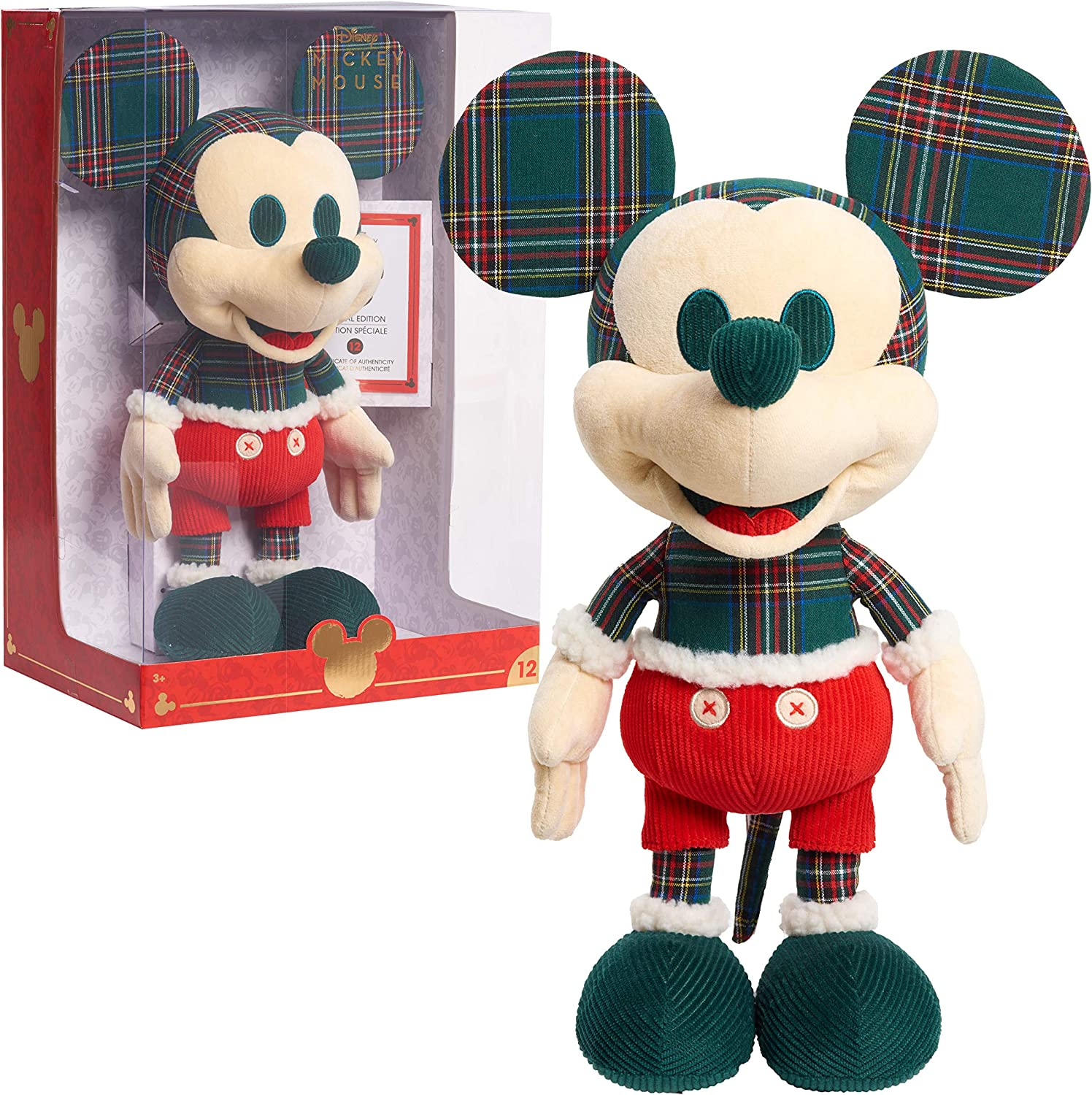 Disney Year of the Mouse Collector Plush, Holiday Spirit Mouse Mickey, Amazon Exclusive