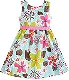 Sunny Fashion Girls Dress Blue Flower Print