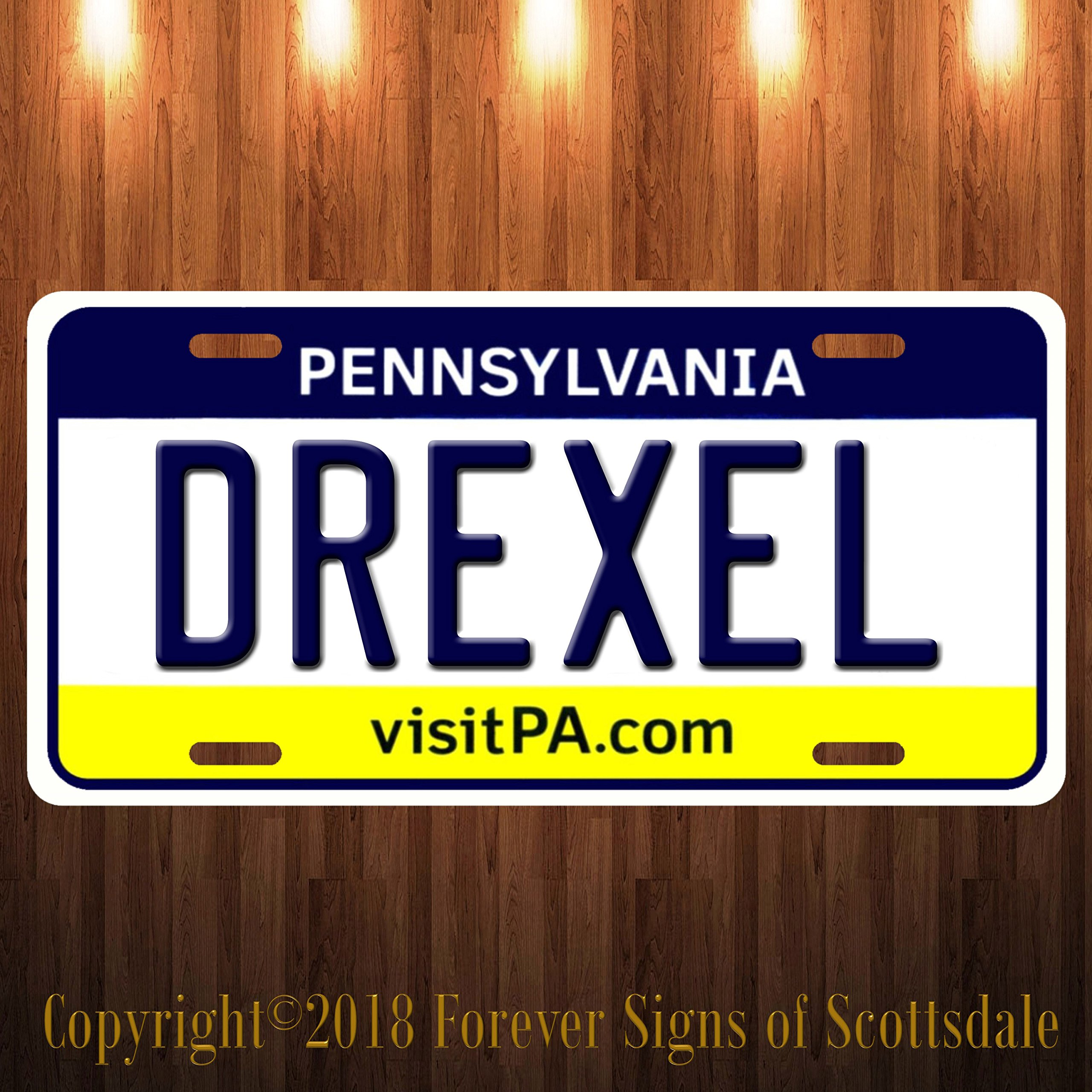 Drexel Pennsylvania City/College State Aluminum Vanity License Plate New
