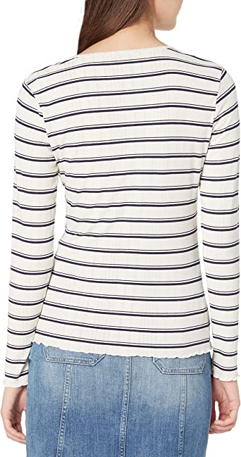 Jessica Simpson Womens Esme Ribbed Long Sleeve Knit Top