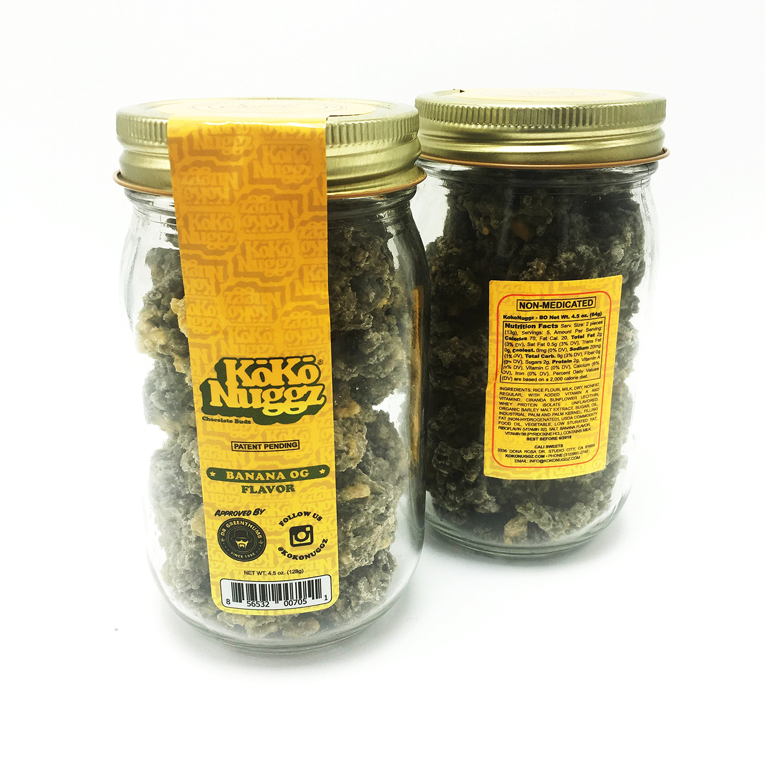 Koko Nuggz Flavor Chocolate Non Medicated BIG JAR (15 oz ) (Banana OG) by Koko Nuggz