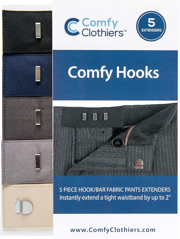 Blue Hook /& Bar Waist Extender Closure Pants Shorts Trouser Line Widen Expander