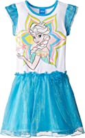 Disney Girls' Frozen Flutter Sleeve Dress