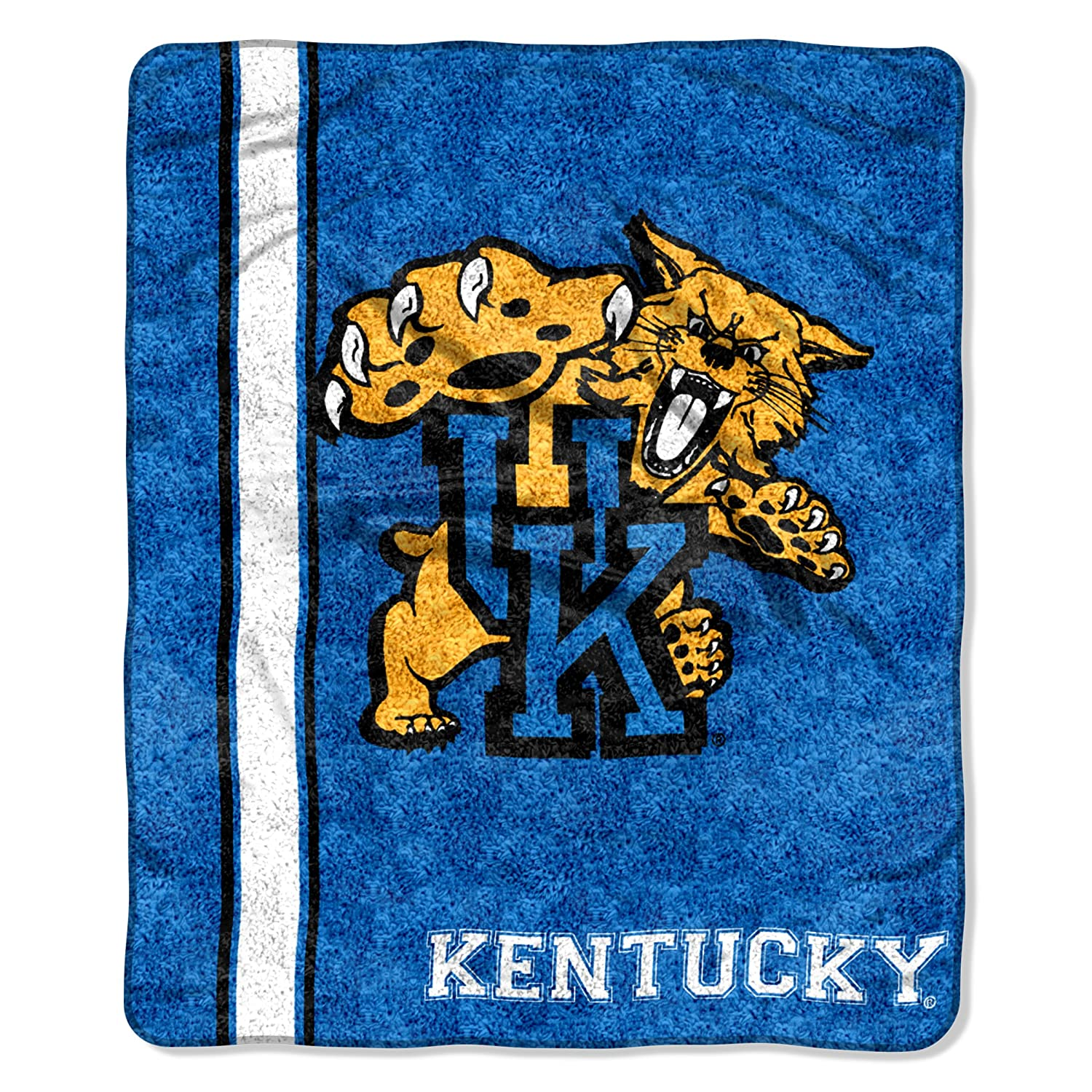 "Officially Licensed NCAA ""Jersey"" Sherpa on Sherpa Throw Blanket, 50"" x 60"", Multi Color"