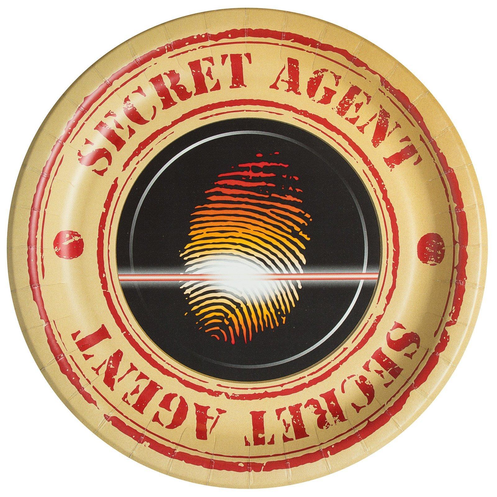 BirthdayExpress Top Secret Spy Party Dinner Plates (8)