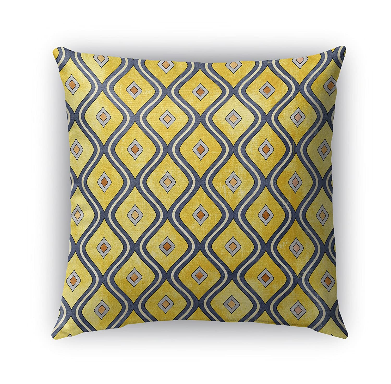 KAVKA Designs Verona Indoor-Outdoor Pillow, - Yellow//Blue Size: 16X16X6 - TELAVC1449OP16