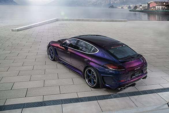 Amazon.com: Porsche Panamera Grand GT by TechArt (2016) Car Print on 10 Mil Archival Satin Paper Purple Front Side Static View 24