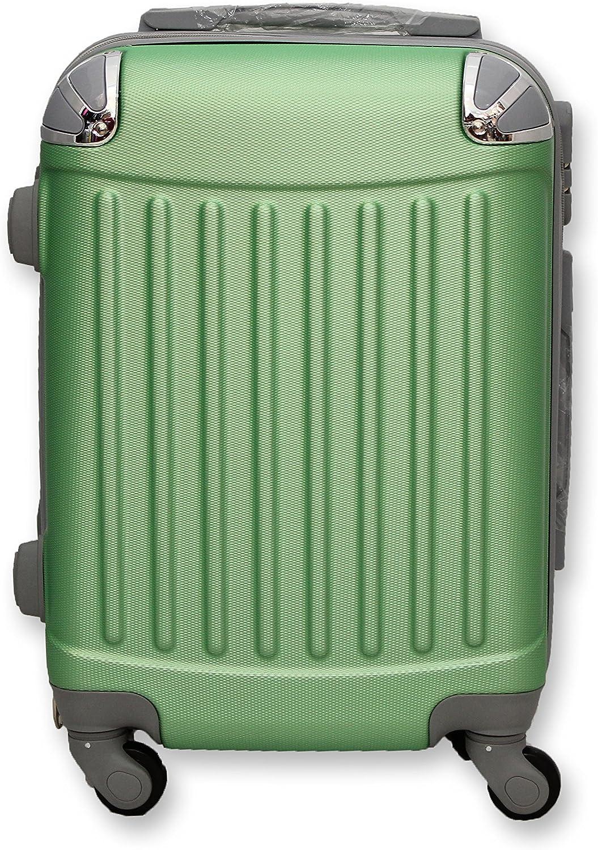 32 Litri 4 Ruote VERDE Ormi Trolley Rigido in Abs 52 Cm Bagaglio a Mano