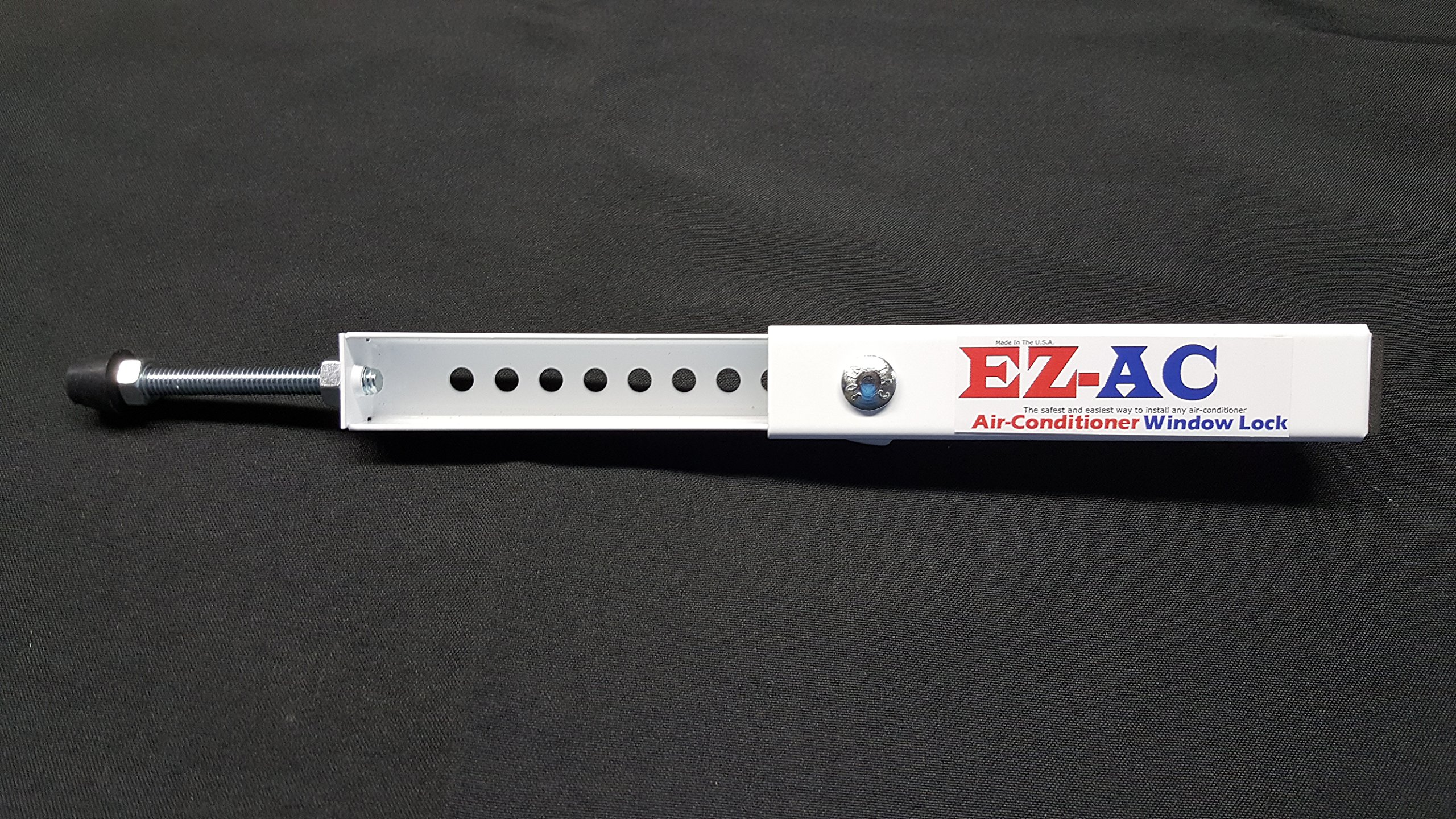 EZ-AC Air-Conditioner Security Window Lock Wedge (Made in the U.S.A.) Extends 7 1/2''-14''