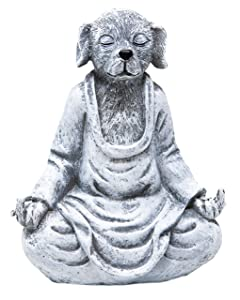Funny Guy Mugs Garden Gnome Statue - Middle Finger Dog - Indoor/Outdoor Garden Gnome Sculpture for Patio, Yard or Lawn