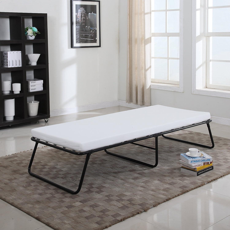 Divano In Memory Foam.Amazon Com Divano Roma Furniture Foldaway Folding Bed Cot Memory Foam Furniture Decor