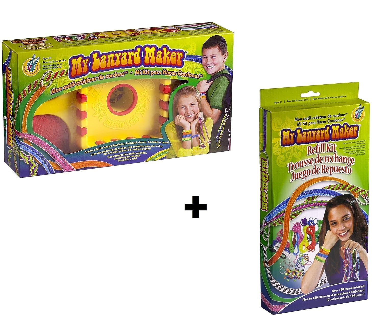 Choose Friendship Bundle My Lanyard Maker Kit and Refill Kit, Jewelry Making Kit and Lanyard Lacing Bracelet Kit for Kids, 302 Items