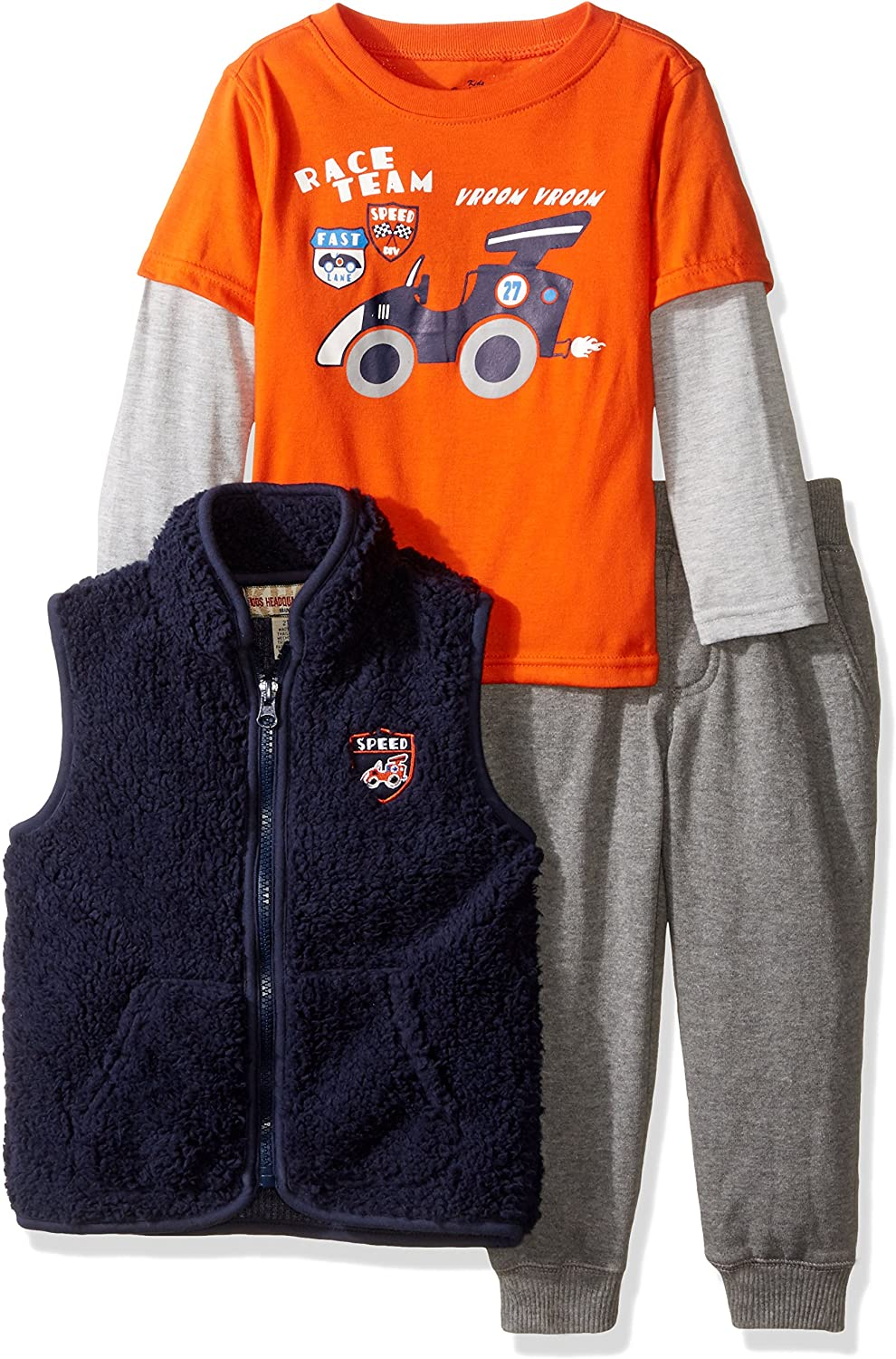 Kids Headquarters Boys 3 Pieces Vest Pants Set