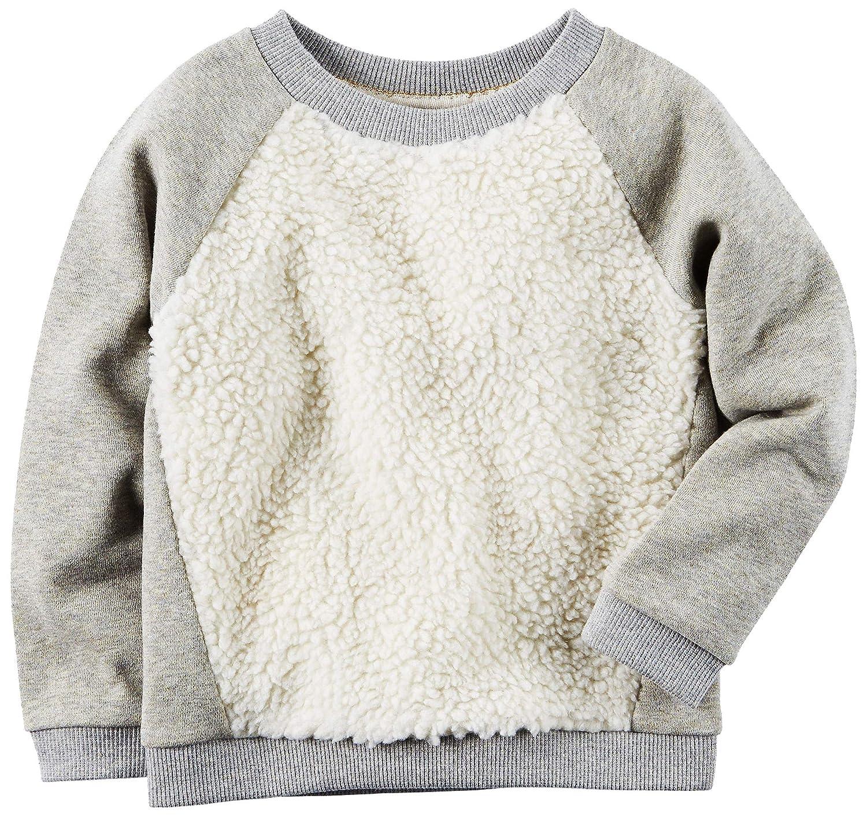 Carters Baby Girls Sparkle Sherpa Sweatshirt 3 Months Grey