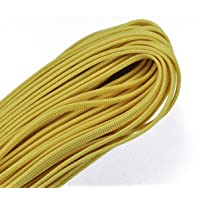 Coreless/Gutted 550 Paracord - Flat Hollow Cord - Whip Makers Computer Cable Sleeve - Mustard Yellow 100 Feet